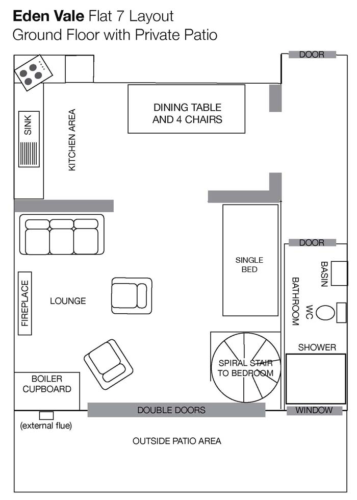 LIVING AREA FLOOR PLAN